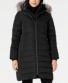 Faux-Fur-Trim Puffer Coat, Created for Macy's