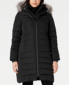 Vince Camuto Faux-Fur-Trim Puffer Coat, Created for Macy's