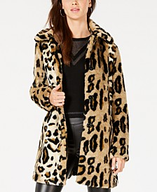 Leopard-Print Faux-Fur Coat