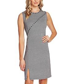 Studded Herringbone Dress