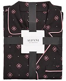 Printed Long-Sleeve Top & Pajama Pants Set, Created for Macy's