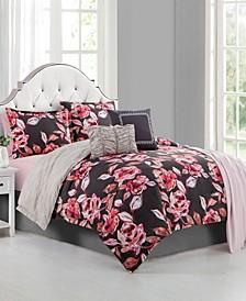 Fleur Du Jour 6-Piece Full Comforter Set