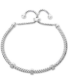 EFFY® Diamond Statement Bolo Bracelet (1/6 ct. t.w.) in Sterling Silver