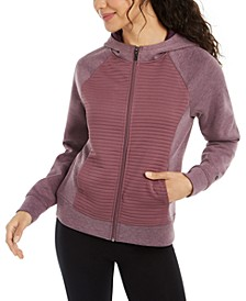 Campbell Ribbed Zip-Front Hoodie