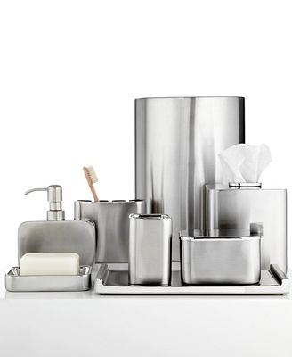 Bathroom Accessories Modern closeout! hotel collection hotel modern brushed stainless steel