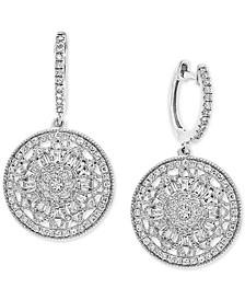 EFFY® Diamond Cluster Disc Drop Earrings (5/8 ct. t.w.) in 14k White Gold