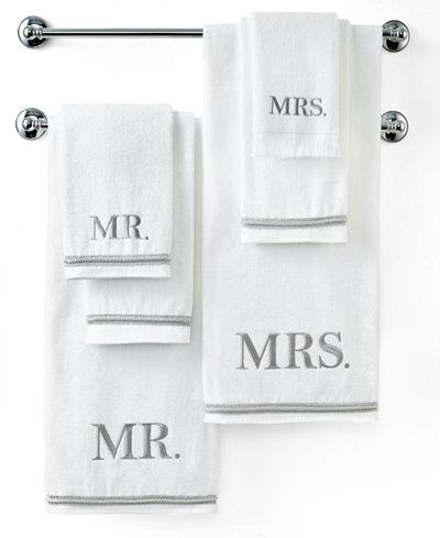 Avanti Bath Towels, Mr. & Mrs. Towel Collection