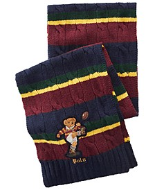 Men's Colorblocked Rugby Bear Scarf