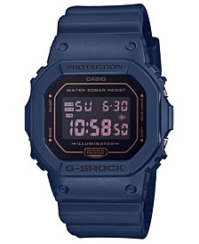 Men's Digital Blue Resin Strap Watch 42.8mm