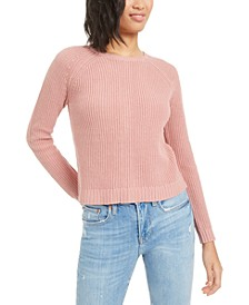 Zip-Back Ribbed Sweatshirt, Created for Macy's