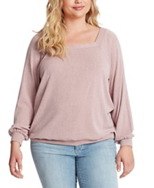 Jessica Simpson Trendy Plus Size Reign Square-Neck Top