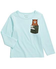 Baby Boys Cotton Teddy Bear Pocket T-Shirt, Created for Macy's