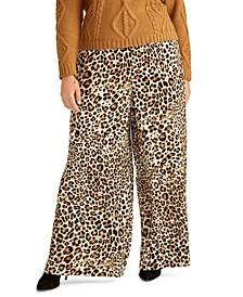 Trendy Plus Size Alice Animal-Print Pants