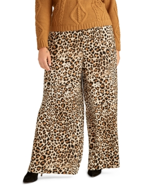Rachel Rachel Roy Trendy Plus Alice Animal-Print Pants