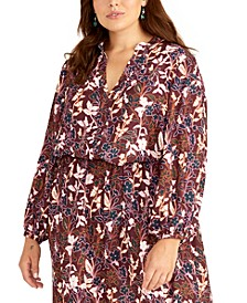 Trendy Plus Size Floral-Print Top