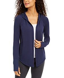 Ruched-Back Open Hooded Cardigan, Created for Macy's