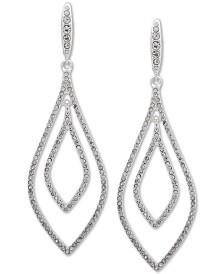 Lauren Ralph Lauren Silver-Tone Pavé Orbital Drop Earrings