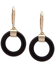 Lauren Ralph Lauren Two-Tone Circle Link Drop Earrings