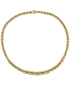 "Graduated 18"" Chain Necklace in 18k Gold"