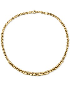 "Italian Gold Graduated 18"" Chain Necklace in 18k Gold"