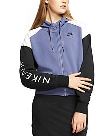 Women's Air Colorblocked Zip Fleece Hoodie