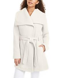 Madden Girl Juniors' Asymmetrical Belted Wrap Coat