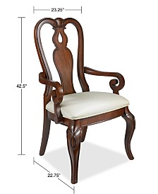 Bordeaux Dining Chair, Queen Anne Arm Chair, Created for Macy's