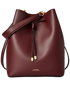 Debby Leather Drawstring Bag
