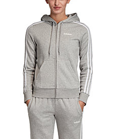 adidas Women's Essential Fleece 3-Stripe Zip Hoodie
