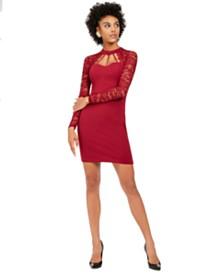 GUESS Lace Sweetheart Sheath Dress