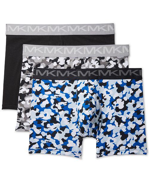 Michael Kors Men's 3-Pk. Stretch Factor Boxer Briefs