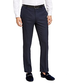 INC Men's Slim-Fit Micro Check Suit Pants, Created for Macy's