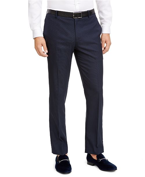 INC International Concepts INC Men's Slim-Fit Micro Check Suit Pants, Created for Macy's
