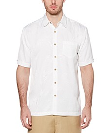 Men's Big & Tall Jacquard Tropical Shirt