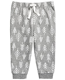 Baby Boys Forest-Print Jogger Pants, Created for Macy's