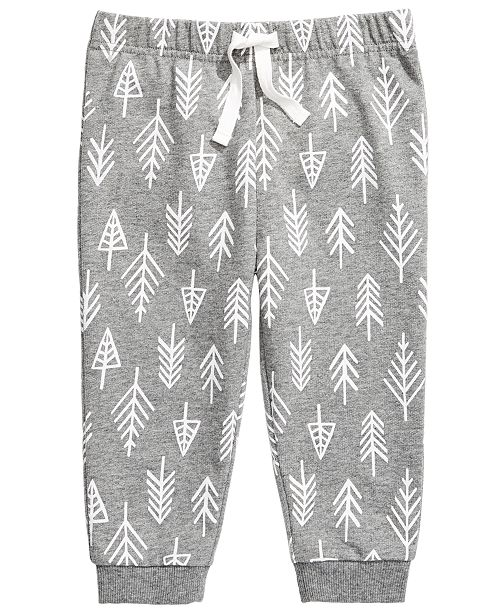 First Impressions Toddler Boys Forest-Print Jogger Pants, Created for Macy's