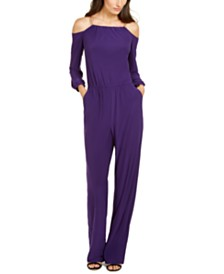 NY Collection Petite Chain-Link Jumpsuit