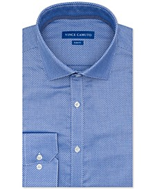 Men's Slim-Fit Performance Stretch Dobby Dress Shirt