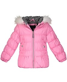 Weathertamer Little Girls Fur-Lined Puffer Jacket