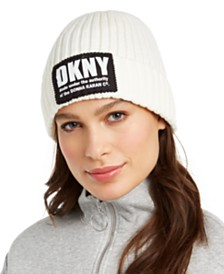 DKNY Fleece-Lined Knit Beanie