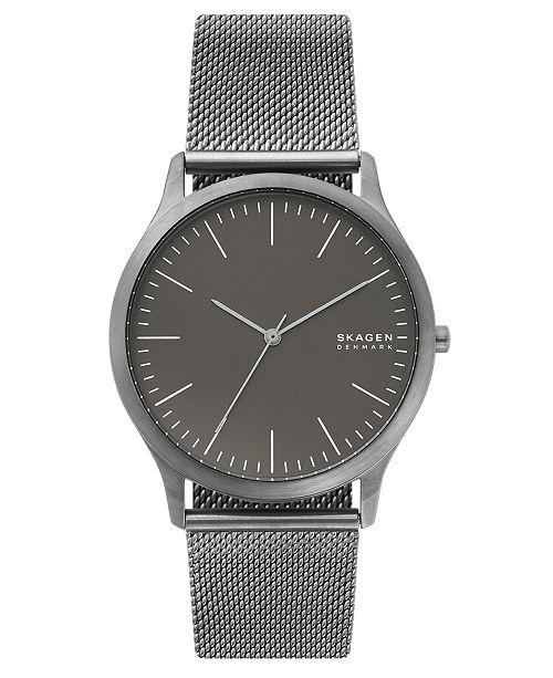 Skagen Men's Jorn Gunmetal Stainless Steel Mesh Bracelet Watch 41mm