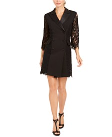 28th & Park Tuxedo Jacket Dress, Created for Macy's