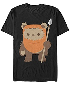 Men's Return of The Jedi Cute Ewok But Will Spear You Short Sleeve T-Shirt