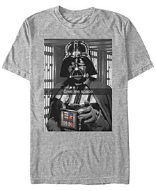 Men's Classic Darth Vader Give Me Space Short Sleeve T-Shirt