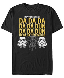 Star Wars Men's Classic Empire Helmets Imperial March Short Sleeve T-Shirt