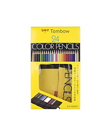 Tombow 1500 Series Colored Pencils, 24-Piece Set in Roll Up Case
