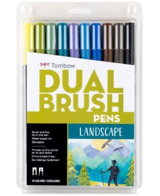 Tombow Dual Brush Pen Art Markers, Landscape, 10-Pack
