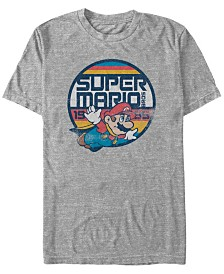 Nintendo Men's Super Mario Flying Mario Short Sleeve T-Shirt