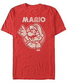 Nintendo Men's Super Mario Pointing Short Sleeve T-Shirt