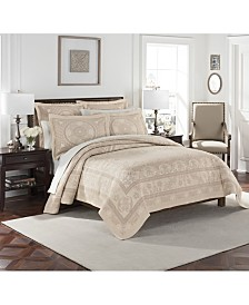 Williamsburg Basset Matelasse Twin Coverlet